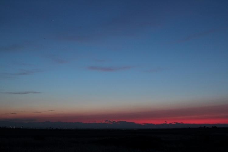 Abendhimmel über den Rocky Mountains