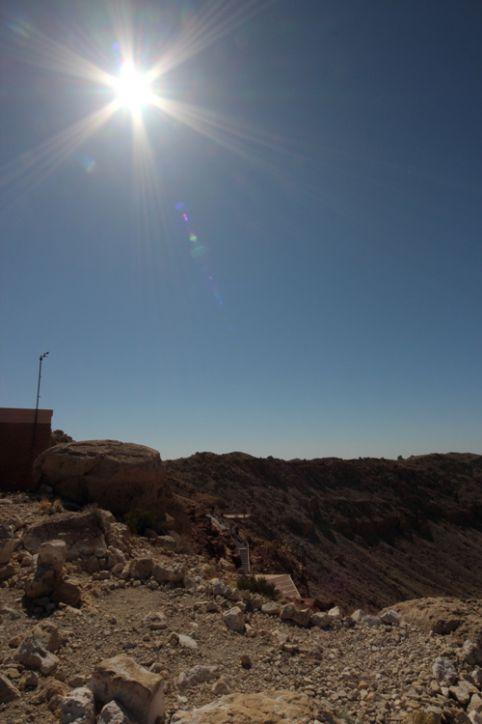 Sonne über dem Meteor Crater