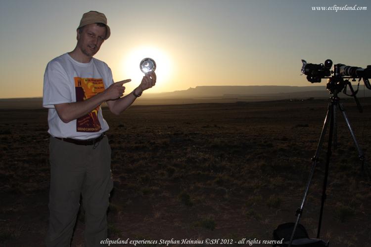 Präsentation der Sonnenfinsternis am 20. Mai 2012