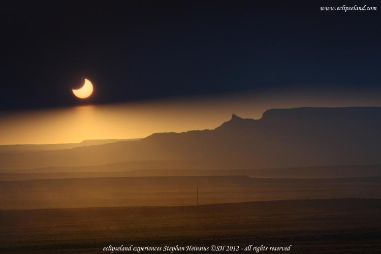 Sonnenfinsternis über Arizona